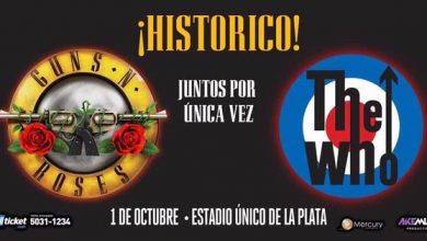 Photo of Guns N Roses y The Who en Argentina juntos en el Estadio Único de la Plata