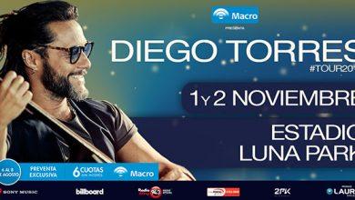 Photo of Diego Torres anunció dos shows en el Luna Park