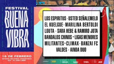 Photo of Conocé el lineup de los artistas que estarán en el Festival Buena Vibra